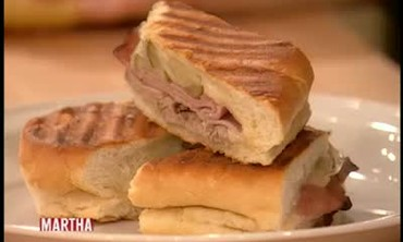 Grilled Cuban Sandwiches with Roasted Potato Chips