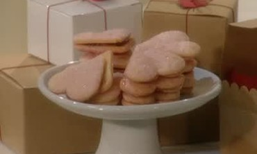 Heart Shaped Cookies Filled With Red Currant Jelly