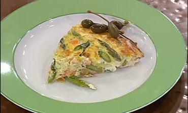 Hollandaise Reduction Sauce with a Salmon Frittata