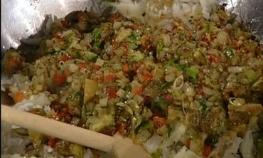 Roasted Eggplant Stuffed with Rice Dressing Part 1