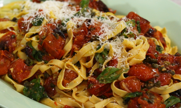 Fresh Fettuccine with Roasted Tomatoes and Capers