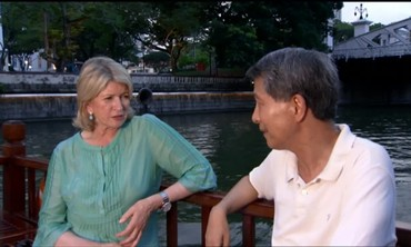 Touring Singapore via Bumboat with Martha Stewart