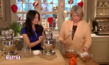 Persimmon Pudding with Martha Stewart and Lucy Liu
