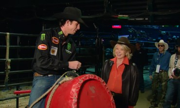 Martha Gets a Bull Riding Lesson from the World Champ