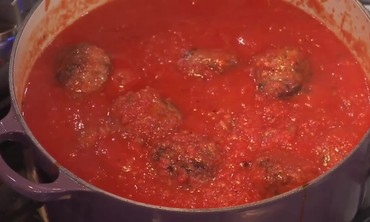 Emeril's Veal and Pork Meatballs with Creamy Tomato Sauce