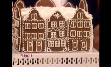 Making a Gingerbread-Town-Square Cake with Isaac Mizrahi