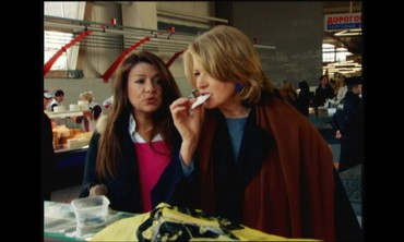 Taste Testing at Dorogomilovsky Market with Martha Stewart