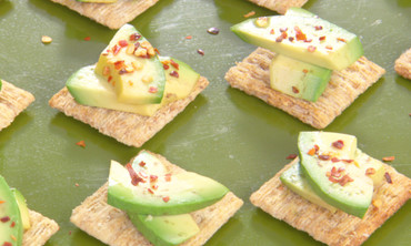 Martha Makes an Avocado, Chili Flake, and Lemon Triscuit Snack