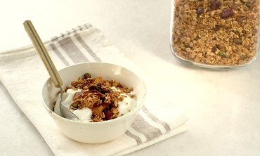 Toasted Museli with Millet, Coconut, Pistachios and Cranberries