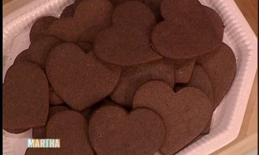 Heart Shaped Chocolate Cookies
