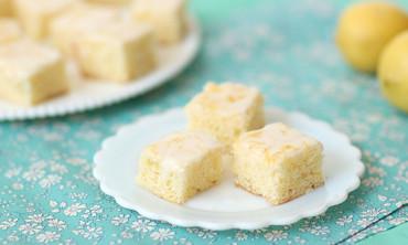 Sarah Carey and Donal Skehan make delicious Lemon Drizzle Slices