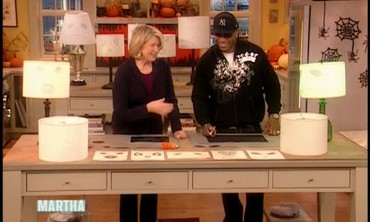 Halloween Stencil Lampshades with LL Cool J