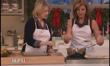 Arianna Huffington Demonstrates a Childhood Recipe for Melomakarona Cookies