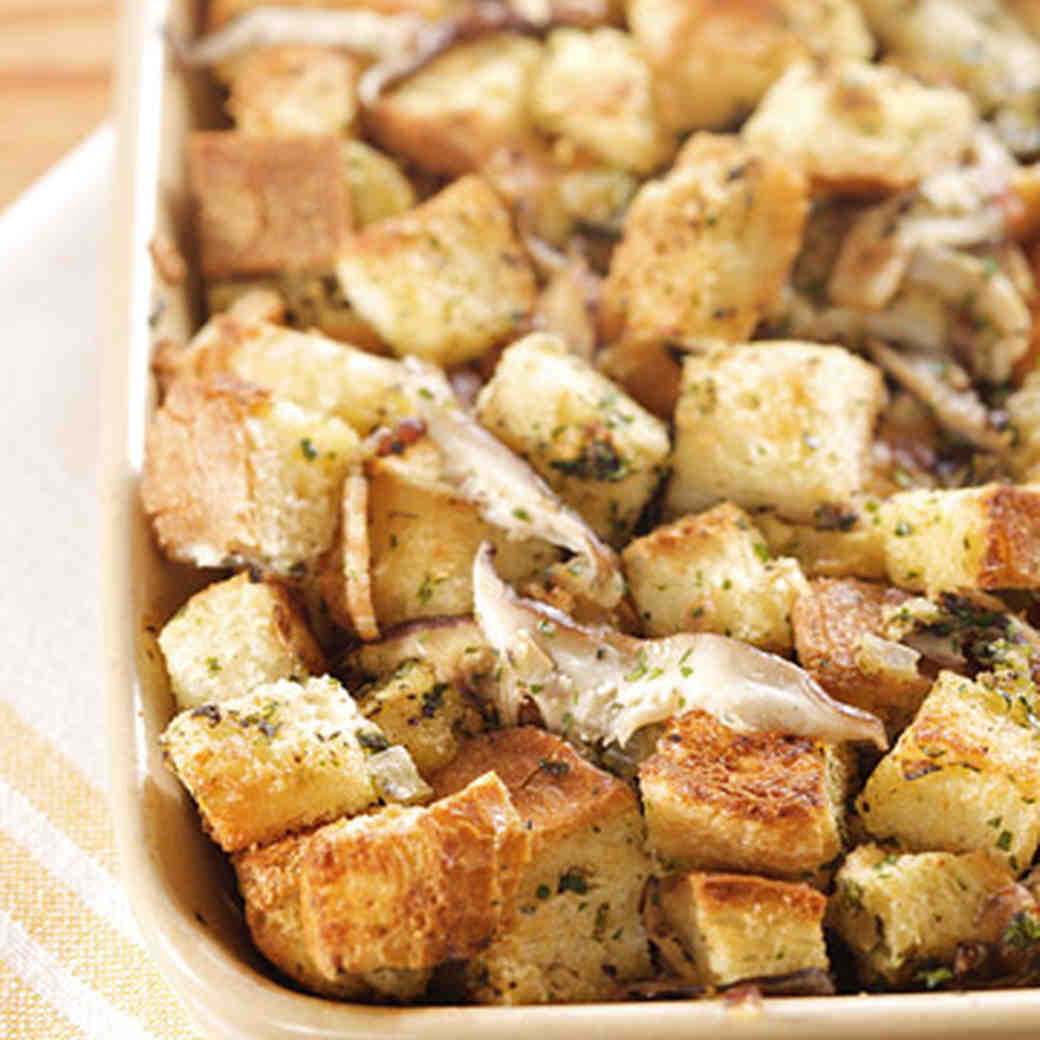 Brown Butter Sage And Mushroom Stuffing Recipe Martha Stewart