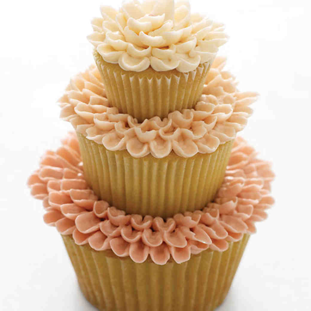 Triple Tier Flower Cakes