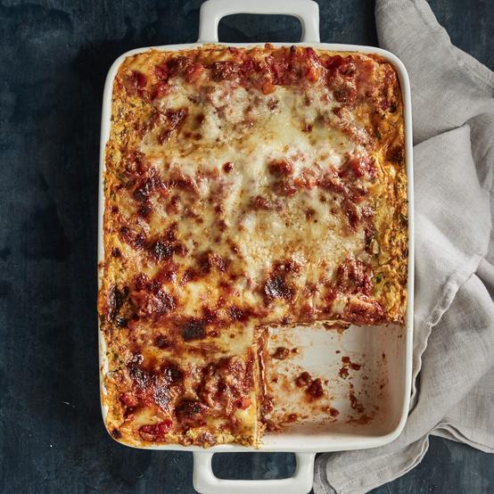 ultimate lasagna in pan