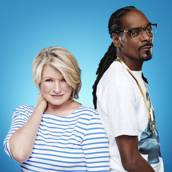 Martha and Snoop in a promotional shot for their new cooking show