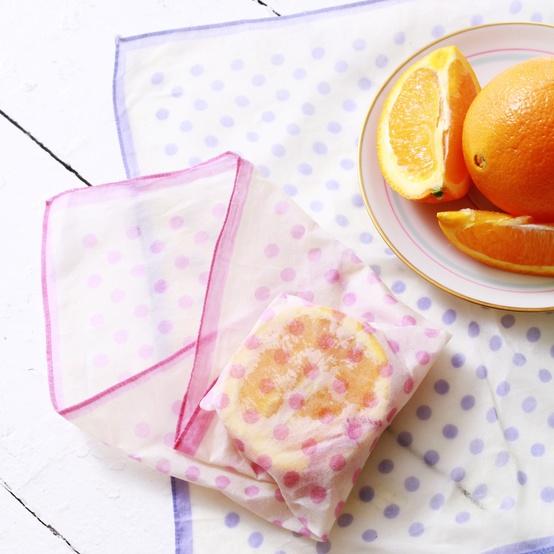 beeswax wrap for orange slices