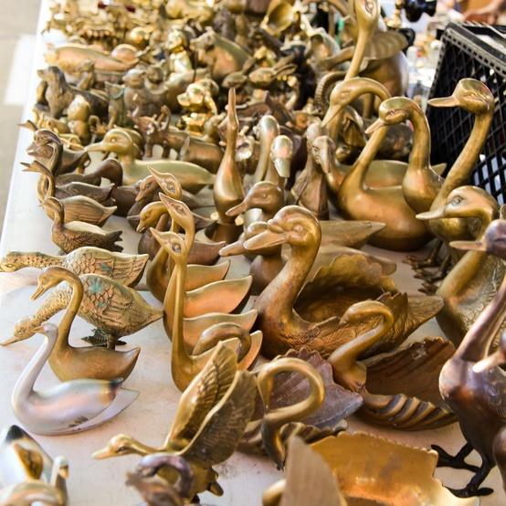 Gilded animals at the Flea Market