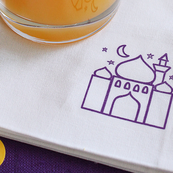 Mosque cocktail napkin