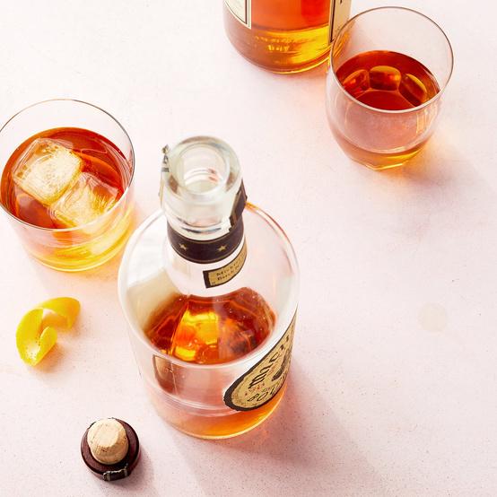whiskey alcohol bottle glasses
