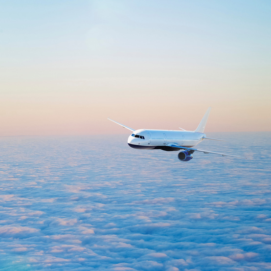 Airplane Flying in Pink Skies