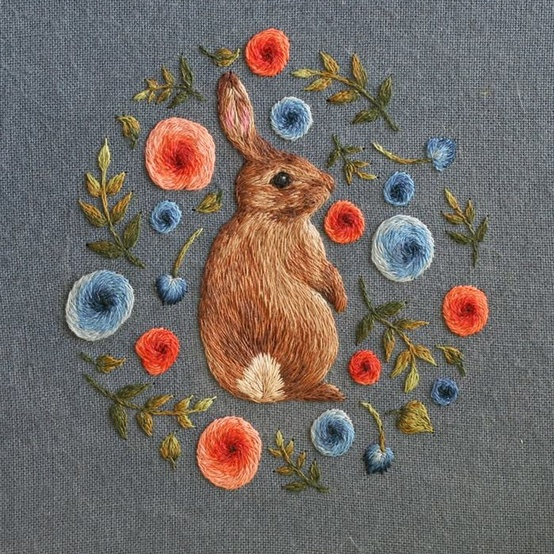 bunny embroidery