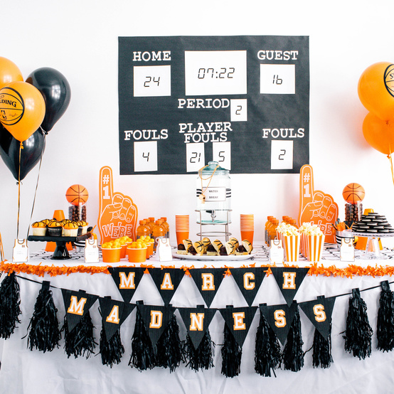 march madness party table