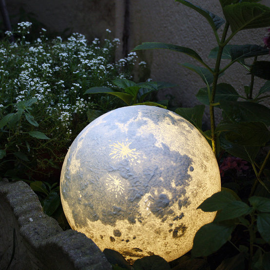 moon lamp in garden