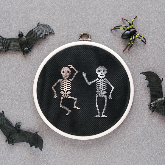 Cross-stitch skeleton project