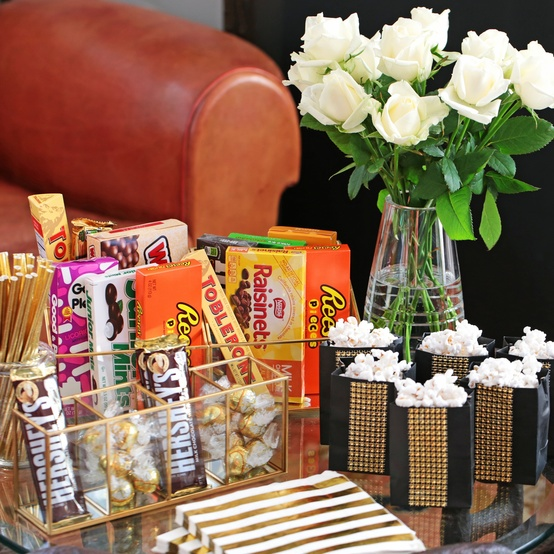 Oscars party snack table
