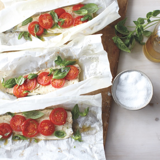 parchment-baked trout