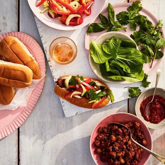 asian pork bun ingredients table