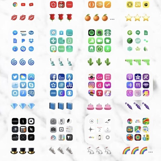 organized phone apps colorful
