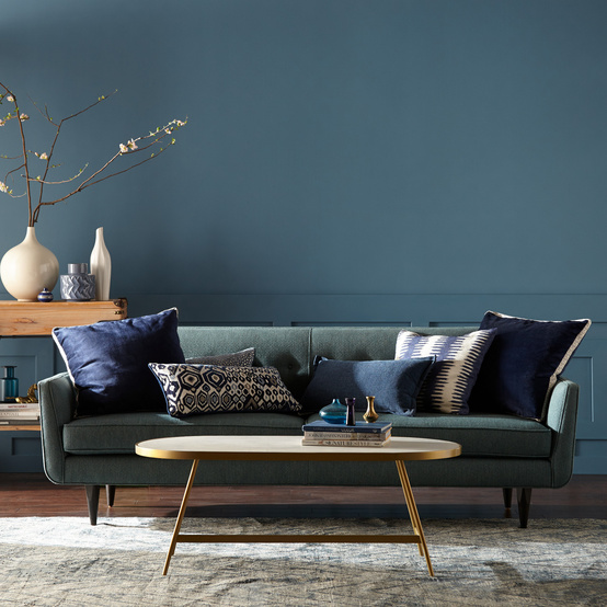 behr blue paint living room