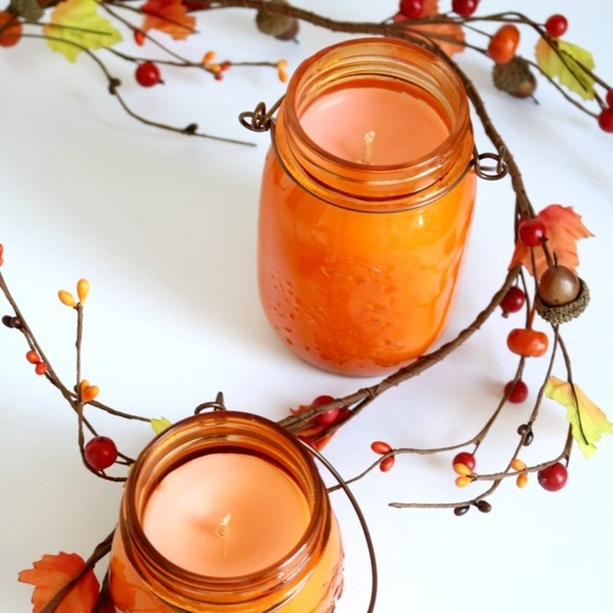 Make your own pumpkin spice candles with our easy tutorial.