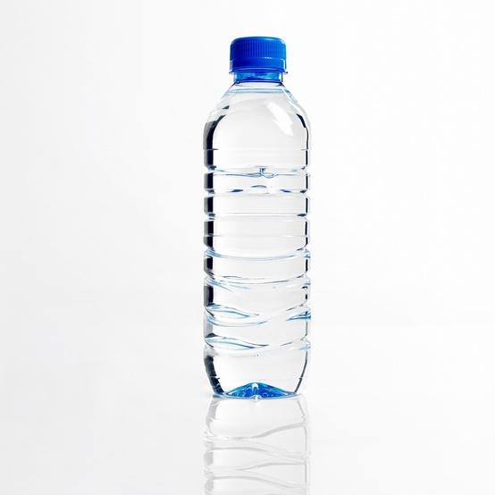 A single plastic water bottle