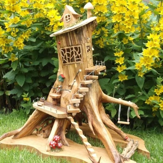 Timber Woodland fairy house