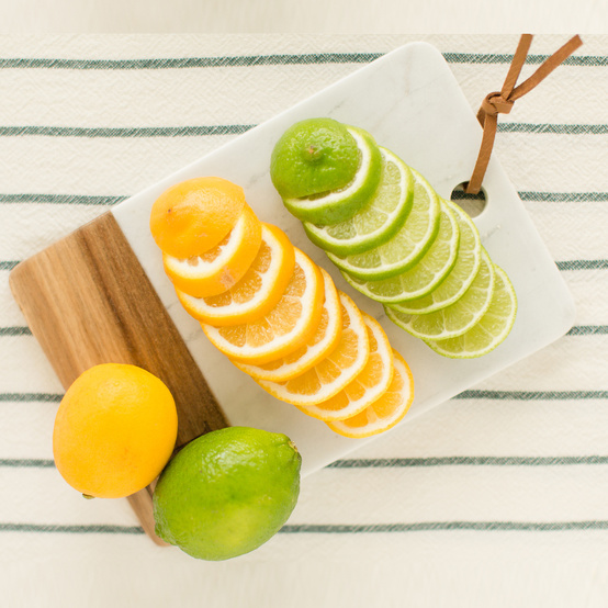 sliced fruit lemons and limes