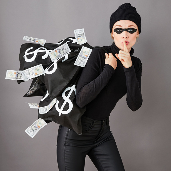 diy bank robber costume