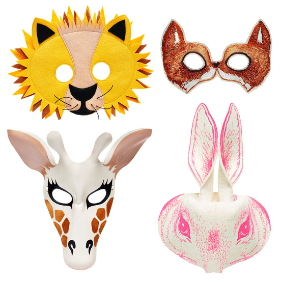 leather felt animal masks