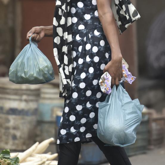 印度的塑料袋