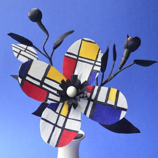Piet Mondrian paper arrangement