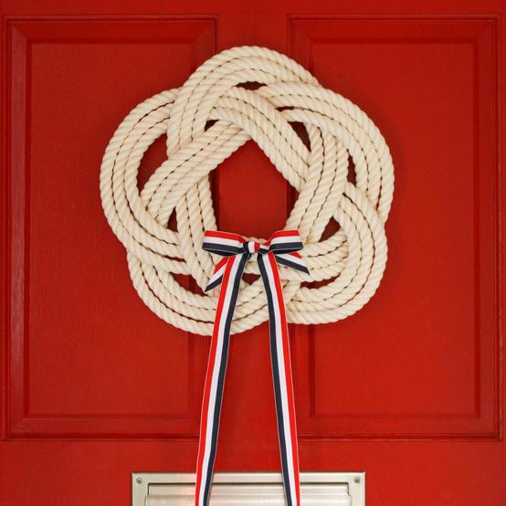 sailor's knot wreath