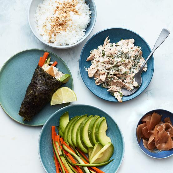 Tuna-Salad Hand Rolls recipe