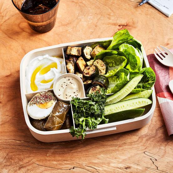 vegetarian mezze bento box