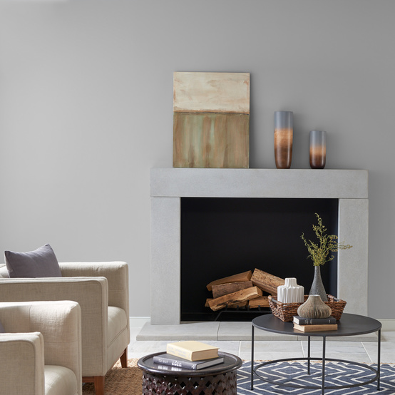 behr paint neutral flannel gray in living room
