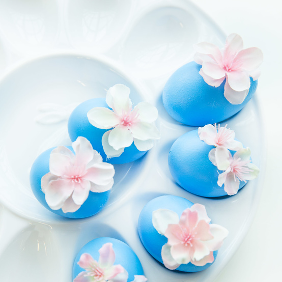 cherry blossom Easter eggs