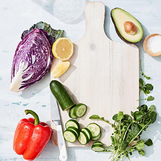 vegetables cutting board
