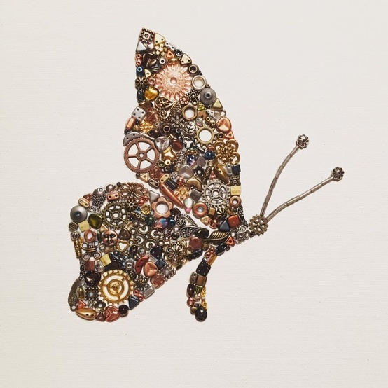 upcycled butterfly art by Maddy Edgar